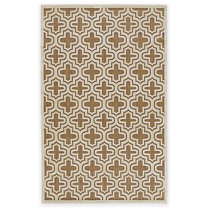 Alternate image 1 for Feizy Tahla II 2-Foot 1-Inch x 4-Foot Accent Rug in Tan/Cotton