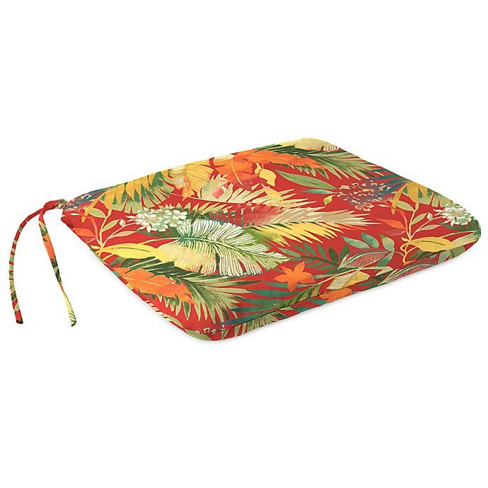 Alternate image 1 for Print Square Dining Seat Pad in Tomesa Fireball
