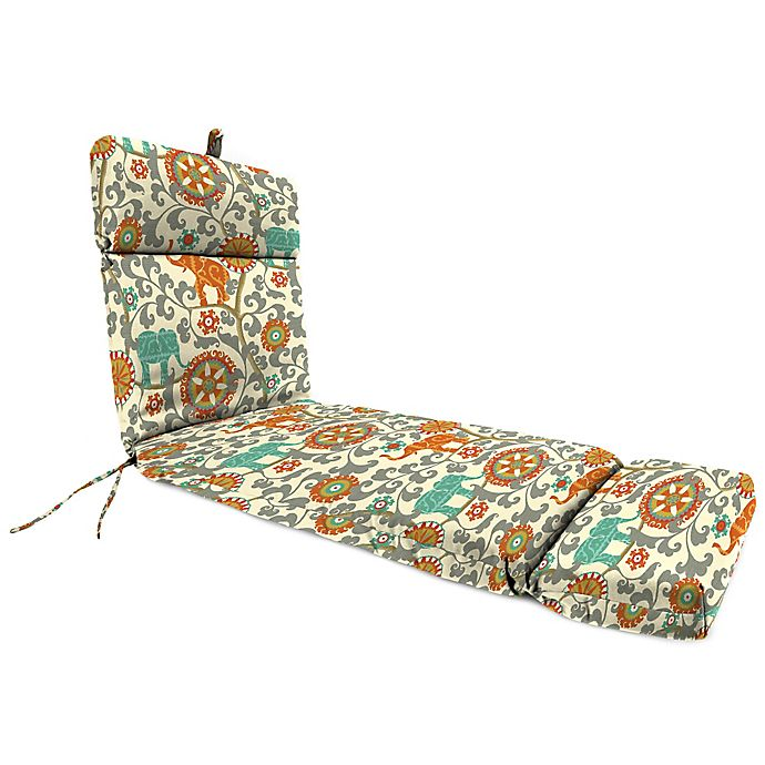 Buy Outdoor Chaise Lounge Cushion In Menagerie Cayenne
