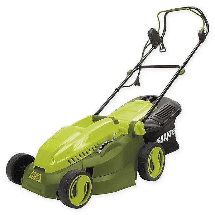 Alternate image 1 for Sun Joe® 15-Inch Corded Electric Lawn Mower/Mulcher in Green