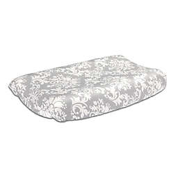 The Peanut Shell™ Damask Changing Pad Cover in Grey