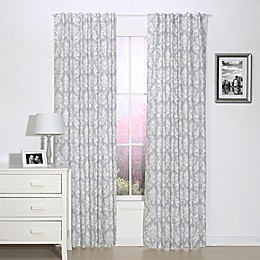 The Peanut Shell™ Damask 84-Inch Blackout Window Panels in Grey (Set of 2)