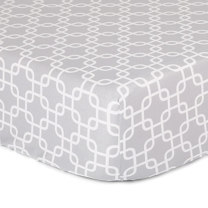 Alternate image 1 for The Peanutshell™  Geometric Fitted Crib Sheet in Grey