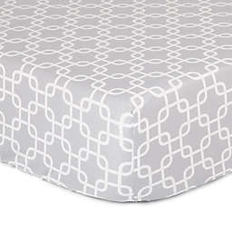 The Peanutshell™  Geometric Fitted Crib Sheet in Grey