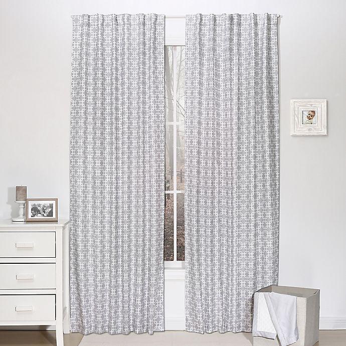 Alternate image 1 for The Peanutshell™  Geometric Blackout Window Panel Pair in Grey
