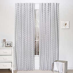 The Peanutshell™  Geometric Window Panel Pair in Grey