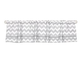 The Peanutshell™  Chevron Window Valance in Grey