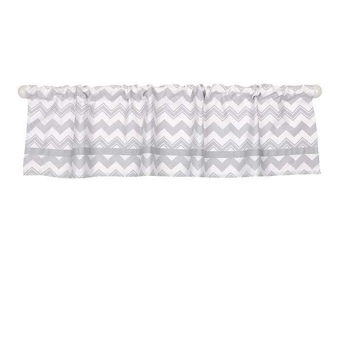 Alternate image 1 for The Peanutshell™  Chevron Window Valance in Grey