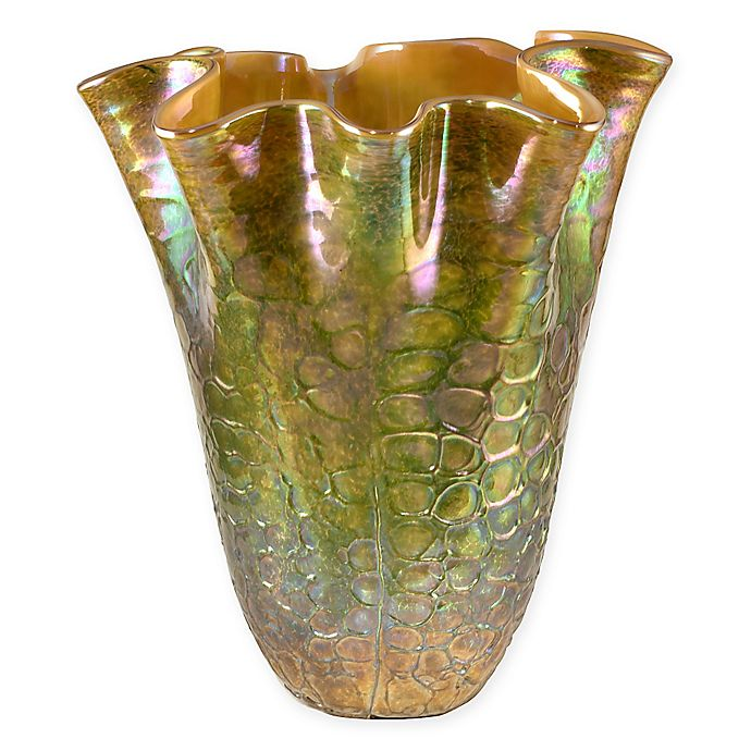 Alternate image 1 for Dale Tiffany Prismatic Ruffle Vase