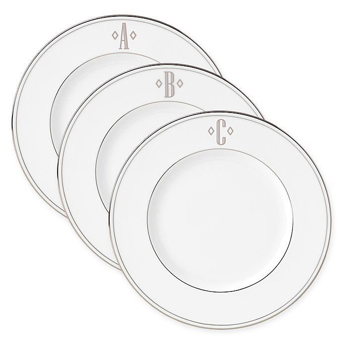 Alternate image 1 for Lenox® Federal Platinum™ Monogrammed Block Letter Accent Plate