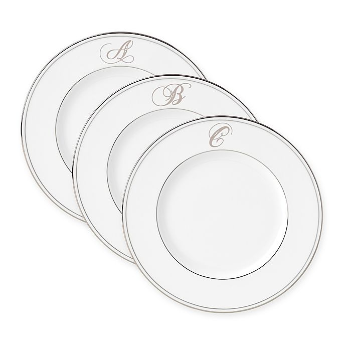 Alternate image 1 for Lenox® Federal Platinum™ Monogrammed Script Letter Accent Plate