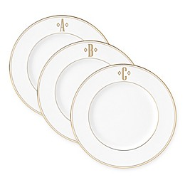 Lenox® Federal Gold™ Monogrammed Block Letter Accent Plate