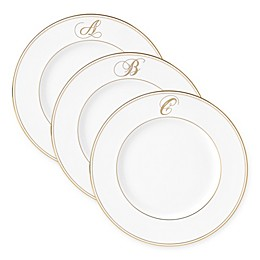 Lenox® Federal Gold™ Monogrammed Script Letter Accent Plate