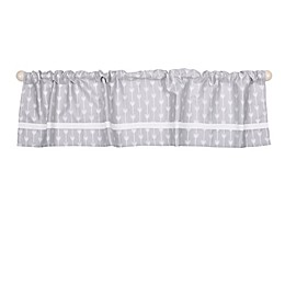The Peanutshell™  Arrows Window Valance in Grey