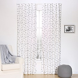 The Peanutshell™  Clouds Window Panel Pair in Grey