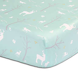 The Peanutshell™  Woodland Fitted Crib Sheet in Mint