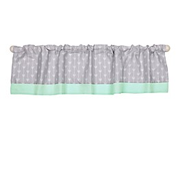 The Peanutshell™ Arrows Window Valance in Mint/Grey