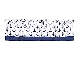 The Peanutshell™  Anchor Window Valance in White/Navy
