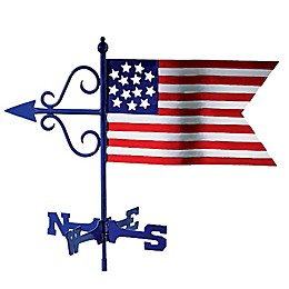 Good Directions© 16-Inch Americana Flag Cottage Weathervane with Roof Mount