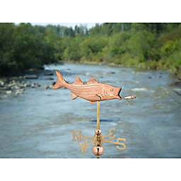 Good Directions Bass with Lure Garden Weathervane in Polished Copper
