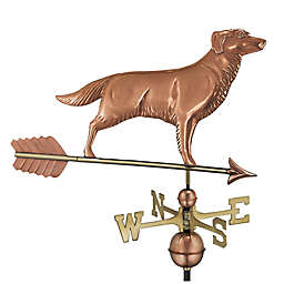 Good Directions Golden Retriever Weathervane with Arrow in Polished Copper