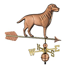 Good Directions Labrador Retriever Weathervane with Arrow in Polished Copper