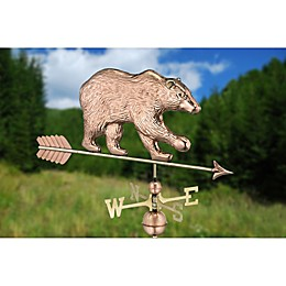 Good Directions© Bear Weathervane in Polished Copper