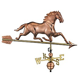 Good Directions Horse Weathervane with Arrow in Polished Copper