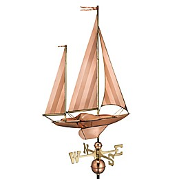 Good Directions Large Sailboat Weathervane in Polished Copper