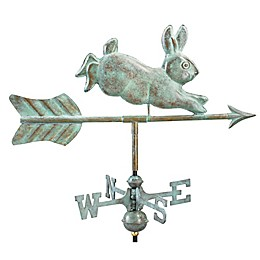 Good Directions© Rabbit Weathervane with Garden Pole in Blue Verde