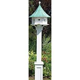 Good Directions Lazy Hill Farm Hammersley Birdhouse Post in White
