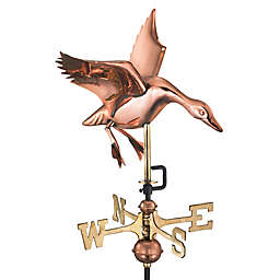 Good Directions Landing Duck Cottage Weathervane in Copper