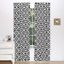 The Peanutshell™  Tile Window Panel Pair in Black/White