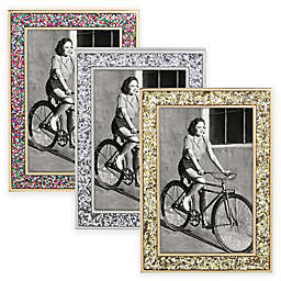 kate spade new york Simply Sparkling 4-Inch x 6-Inch Glitter Picture Frame