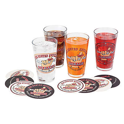 Busted Knuckle Garage Pint Glasses (Set of 4)