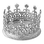 Olivia Riegel® Diana Crown Candle Holder/Wine Coaster in Silver
