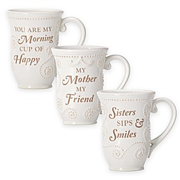 Lenox® French Perle Sentiment Mug Collection in White