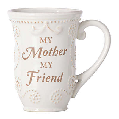 "Lenox® French Perle ""My Mom My Friend"" Mug in White"