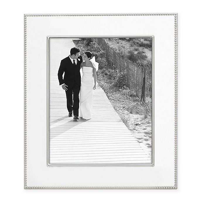 Alternate image 1 for Reed & Barton® Lyndon 8-Inch x 10-Inch Silver-Plated Picture Frame