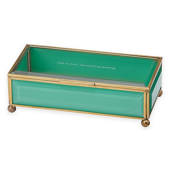 Alternate image 1 for kate spade new york Out of the Box Jewelry Box in Turquoise
