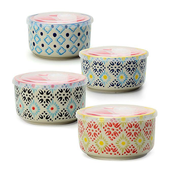 Housewares Store: Signature Housewares Printed Microwave Storage Bowls (Set