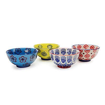 Signature Housewares Print 11 Bowls (Set of 4)