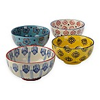 Signature Housewares Print 11 6-Inch Utility Bowls (Set of 4)