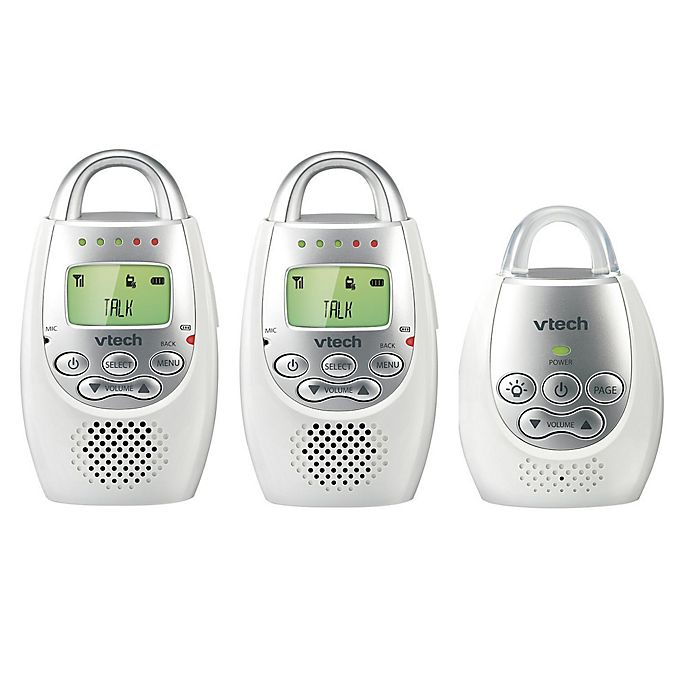 Alternate image 1 for VTech DM221-2 Digital Audio Baby Monitor w/Talk-Back Intercom and 2 Parent Units