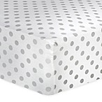 Trend Lab® Dot Flannel Fitted Crib Sheet in Grey
