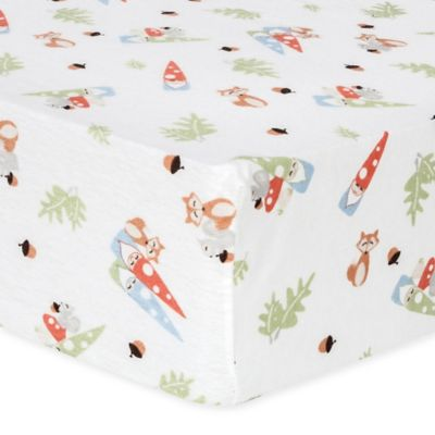 Trend Lab 174 Forest Gnomes Flannel Fitted Crib Sheet