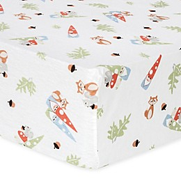 Trend Lab® Forest Gnomes Flannel Fitted Crib Sheet