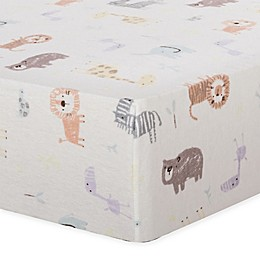 Trend Lab® Crayon Jungle Flannel Fitted Crib Sheet