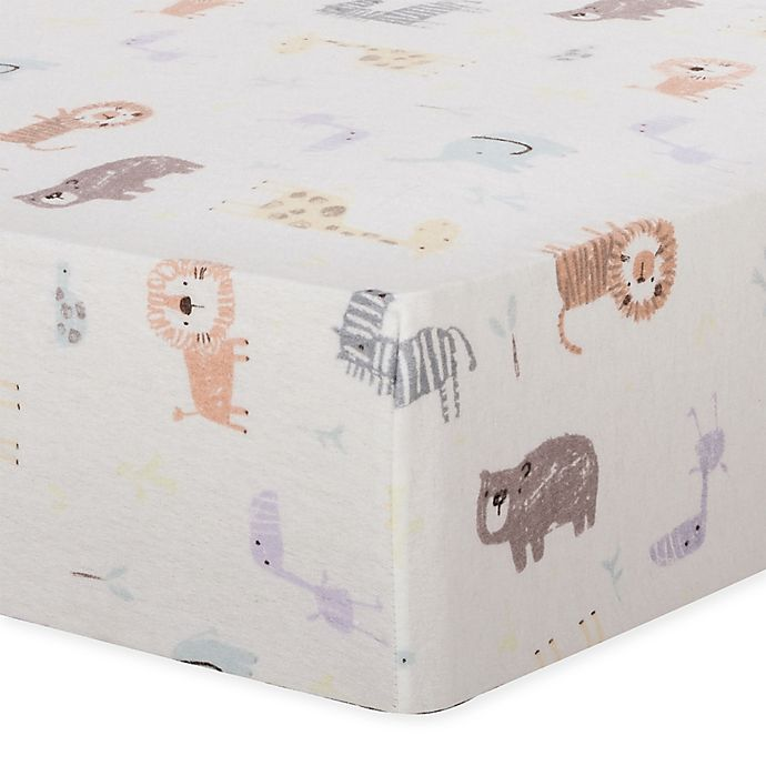 Alternate image 1 for Trend Lab® Crayon Jungle Flannel Fitted Crib Sheet