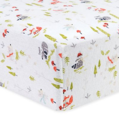 Trend Lab 174 Winter Woods Flannel Fitted Crib Sheet Buybuy